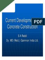 Current Developments in Concrete Construction