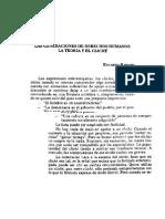 RABOSSI, Eduardo Las Generaciones de Derechos Humanos La Teoria y El Cliche