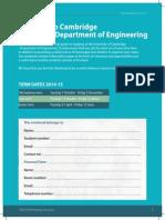 Cambridgew Engineering Freshers Guide