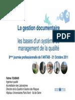 3- Les Bases d Un Systeme de Management de La Qualite - F-ToUBAIS-2