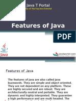Features of Java - JavaTportal