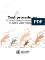 Test Procedures for Insecticide Resistance Monitoring in Malaria Vector Mosquitoes