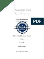 CE 321 Final Report
