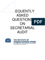 FAQs Secretarial Audit