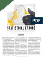 Statistical Errors by Regina Nuzzo