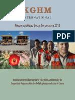 Responsabilidad Social Corporativa 2013