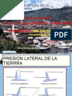 GRUPO 04 PRESION LATERAL DE TIERRA 1    HUAMAN CCENTE GSUTAVO Y ARCE GOMEZ FAUSTINO.ppt