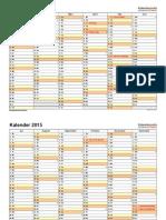 Kalender 2015 Querformat 2 Seiten