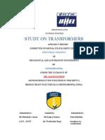 Bhel (Transformer) Major Training