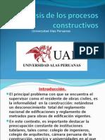 Análisis de Los Procesos Constructivos