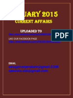 January 2015 Current Affairs