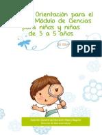Guía de Orientación para el Uso del Módulo ciencias para Niños y Niñas de 3 a 5 años