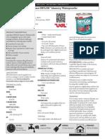 DRYLOK Masonry - Latex Base DRYLOK Masonry Waterproofer - Data Sheet