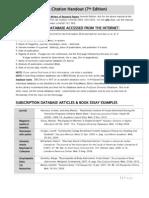 MLA Citation Handout (7th Edition)