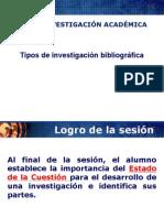 Sesion 3 Tipos de Investigación Bibliográfica