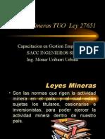 Leyes Mineras Tuo