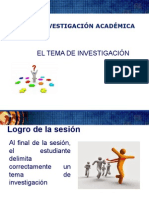 Sesion 5 El Tema de Investigacion