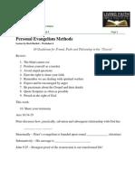 LFBI - Personal Evangelism Worksheet 4