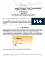 Design, Fabrication and Testing of Mono Composite Leaf Spring for Light Motor Vehicle