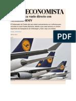 23-06-2015 El Economista - Puebla Busca Vuelo Directo Con Alemania, RMV