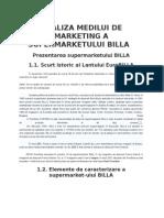 Analiza Medilui de Marketing a Supermarketului Billa