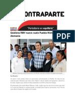 23-06-2015 Contraparte - Gestiona RMV Nuevo Vuelo Puebla-Wofsburg Alemania