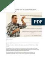 23-06-2015 Periódico Digital - Puebla Podría Contar Con Un Vuelo Directo Hacia Frankfurt, RMV