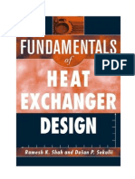 Fundamentals of Heat Exchanger Design,