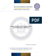 Manual de Redacción y Presentaciónn de Los Trabajos Académicos MyDH Mayo 2015