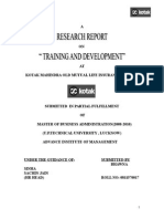 Kotak Mahindra TRAINING & Development
