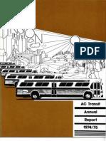 AC Transit Annual Report 1974-1975
