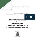 Introduccion Al Derecho Comunitario en La Comunidad Andina