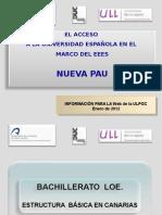Pau Informacion Basica Convocatorias de 2012 Distrito Universitario Canario