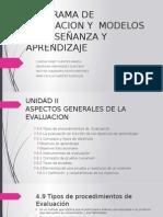 Programa de Evaluacion y Modelos de Enseñanza