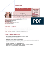Curriculum Claudia Huerta