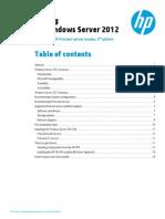 Install Windows 2012 HP Prolaint ML350
