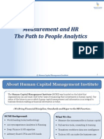 Measurement and HR, the Path to People Analytics