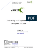 Evaluating and Implemeting Enterprise Solution WMS SCM 3PL TMS Software Mfg ERP CRM System