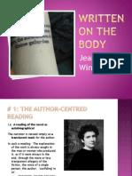 Written on the Body  presentation