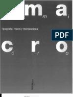 Tipografía Macro y Microestetica-Willi Kunz