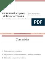 Clase 1 Elementos Descriptivos de La Macroeconomia