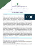Carenza Congenita Di Alfa 1 Antitripsina, Forse 2011, Lombardia