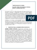 Bases Fondeve y Subvenciones 2015