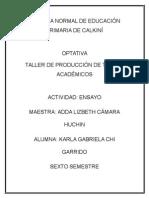 ENSAYO - KARLA GARRIDO