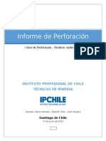 Informe Perforacion Block Caving