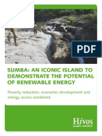 Sumba an Iconic Island Demonstrating Renewable Energy