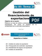 Modulo III - Tema 20 - Gestión Del Financiamiento de Exportaciones