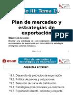Modulo III - Tema 19 - Plan de Mercadeo y Estrategias de Exportación