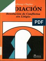 Mediacion - Resolucion de Conflictos Sin Litigio