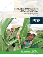 Conduct and Management of Maize Field Trials